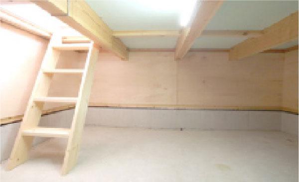 空間をさらに有効にする大容量床下収納